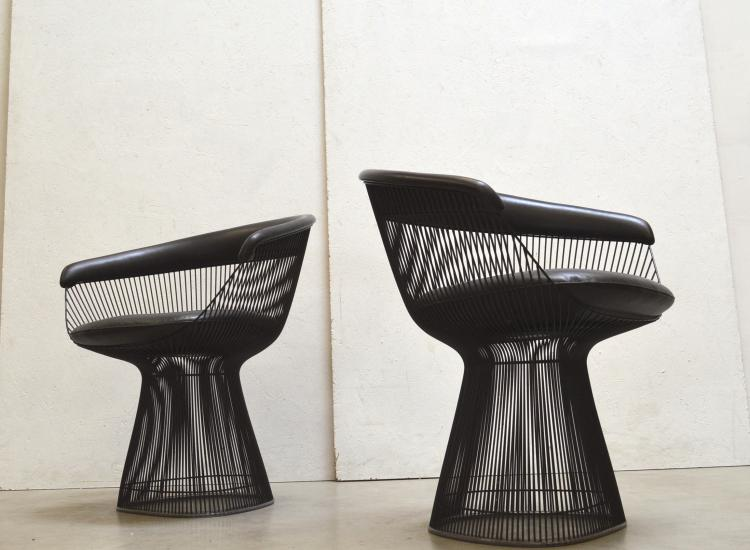 Bronze Warren Platner Armchair Sessel Knoll Interior Aksel Aachen Design Chairs Paris London